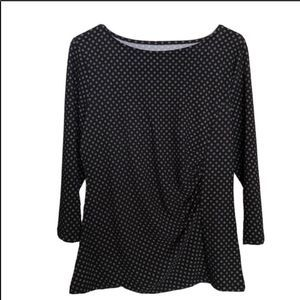 TALBOTS PETITE 👚 WOMENS STRETCHY 3/4 SLEEVE TOP